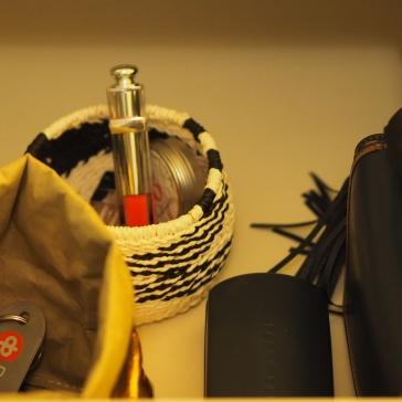 Käsilaukkuasemassa laukkuun tuleville asioille on oma paikkansa.