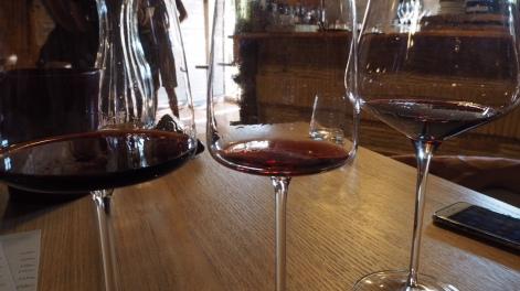 Viininmaistelua San Tommason viinitilalla.